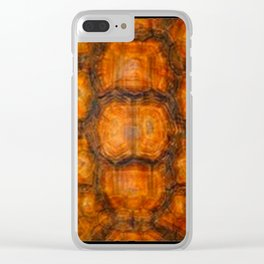 TEXTURED NATURAL ORGANIC TURTLE SHELL PATTERN Clear iPhone Case