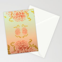 blooming peach Stationery Cards