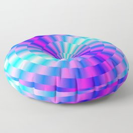 Spiral Rings in Pink and Blue Floor Pillow