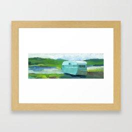 MINT CAMPER Framed Art Print