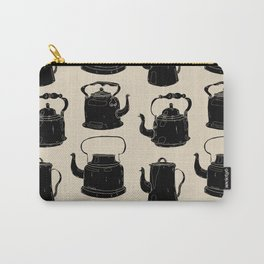 Hand drawn vintage teapots Carry-All Pouch