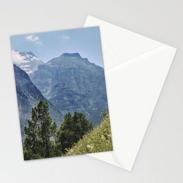 Silberhorn Mountains And Glacier. 3.695meters. Lauterbrunnen Valley. Alps. Switzerland Stationery Cards