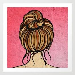 High bun Art Print