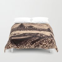bali Duvet Covers featuring Bali Boating by Erica Putis