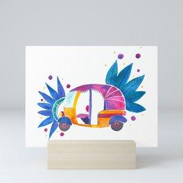 Groovy Rickshaw Mini Art Print