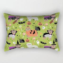 Yorkie halloween costumes pumpkin mummy witch vampire ghost yorkshire terrier Rectangular Pillow