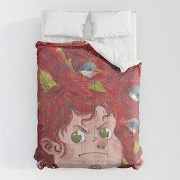 The Girl with Birdhair Comforters