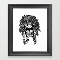 Chief Skull Framed Art Print