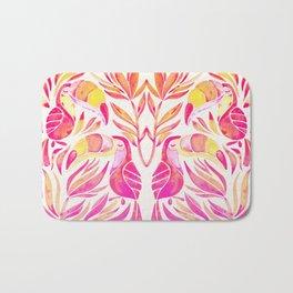 Tropical Toucans – Pink & Melon Ombré Bath Mat