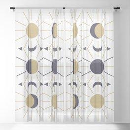 Moon and Sun Sheer Curtain
