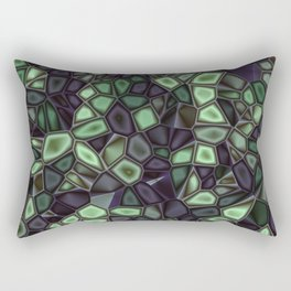 Fractal Gems 04 - Emerald Dreams Rectangular Pillow