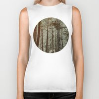 oregon Biker Tanks featuring Oregon Woods by Leah Flores