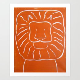 "No. 003 - Original Painting - 16"" x 20"" - The Lion (Modern Kids & Nursery Art) Art Print"