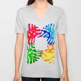 Modern Art: Shapes & Stripes Unisex V-Neck