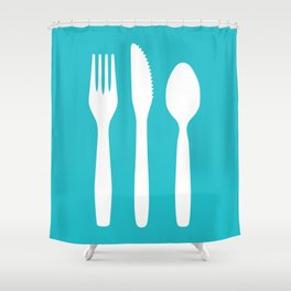 Forked Again Shower Curtain