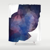 polygon Shower Curtains featuring Polygon Space by ellyonart