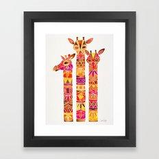 Giraffes – Fiery Palette Framed Art Print