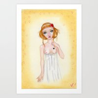 valentina Art Prints featuring Valentina by GiovyLoca's Art Shop