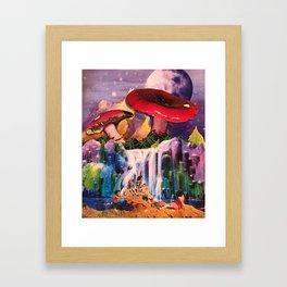 Crystal falls Framed Art Print