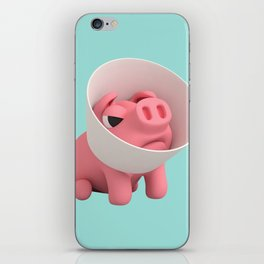 Rosa the Pig and Cone of Shame iPhone Skin