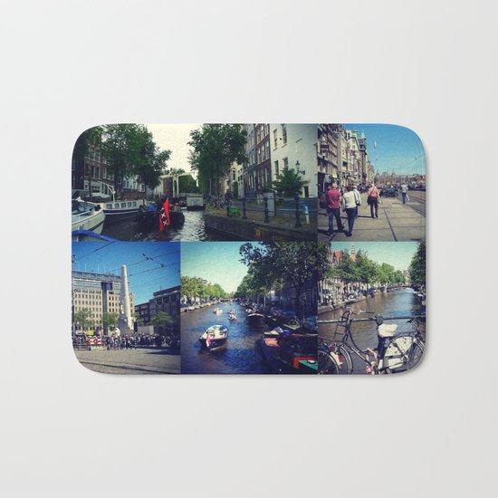 Photo collage Amsterdam 1 Bath Mat