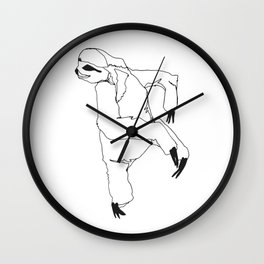A Sloth Wall Clock