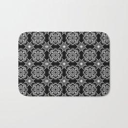 black boho pattern 2 Bath Mat