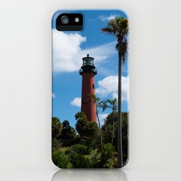 Jupiter Lighthouse Color Tropical / Coastal Landscape Photograph iPhone Case