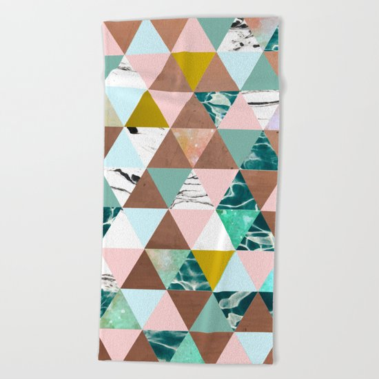 Life in a Pattern #society6 #decor #buyart Beach Towel