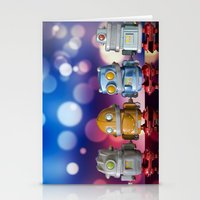 robots Stationery Cards featuring Robots by Pedro Nogueira