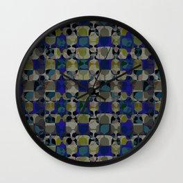 Mid Century Geometry Electric Blue Wall Clock