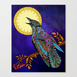 Electric Crow Canvas Print