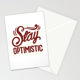 Stay Optimistic Positive Quotes Stationery Cards