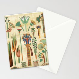 Egyptian paper papyrus hieroglyphs Stationery Cards