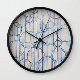 Bubbles of Blue Wall Clock