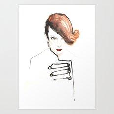 Readhead woman Art Print