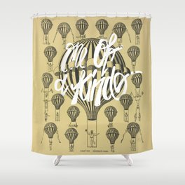 Elegant The Courageous Balloon Dancer {one Of A Kind} Shower Curtain