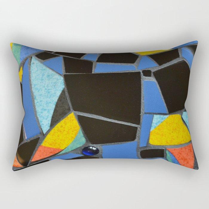 Toucan Dance Mosaic Rectangular Pillow