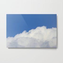Blue Sky and White Clouds Photography Metal Print