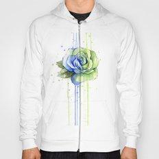 Flower Rose Watercolor Painting 12th Man Art Hoody