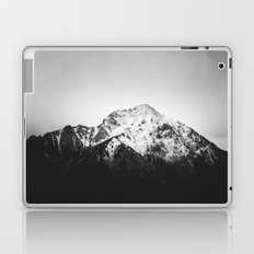 Black and white snowy mountain Laptop & iPad Skin