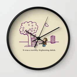 Dr Harold and the Purple Screwdriver Wall Clock