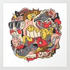 February Brain Dump Art Print