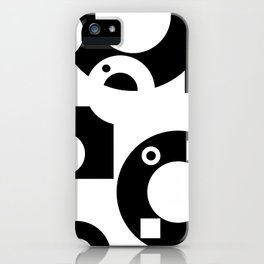 Black& White Rings Rectangle iPhone Case
