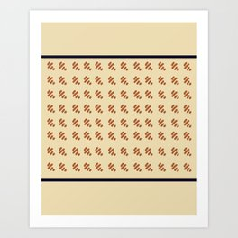 Preppy Houndstooth Art Print