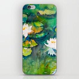 Waterlily Pond I iPhone Skin