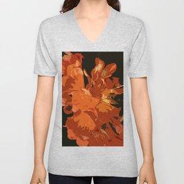 Orange Bush Lily Unisex V-Neck