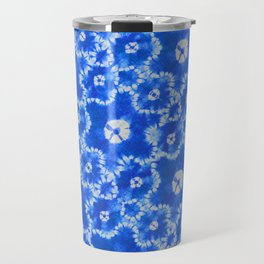 tie dye florals in ultramarine Travel Mug