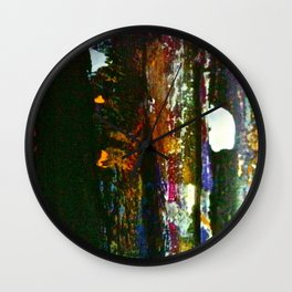 Easel Abstract 3 Wall Clock