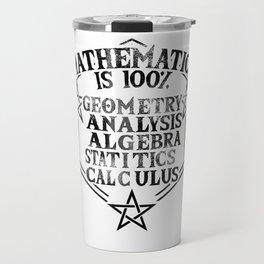 math magic teacher school statistics joke gift Travel Mug